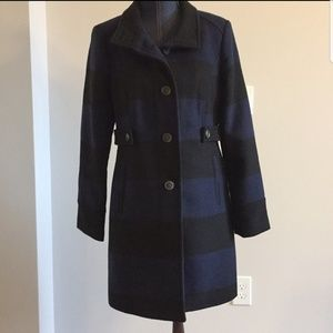 Old Navy striped wool coat